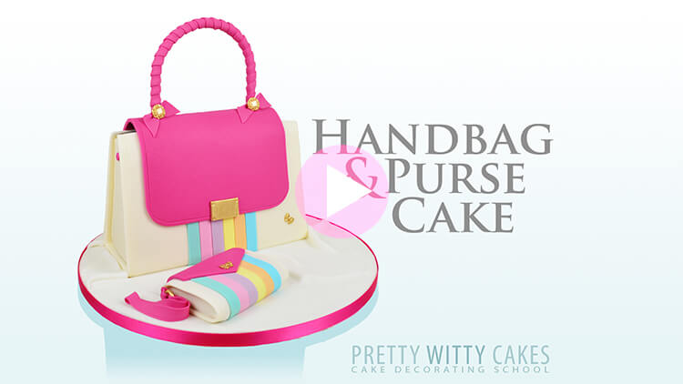 Handbag And Purse Cake tutorial at Pretty Witty Academy