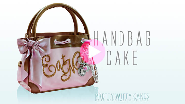 Handbag Cake Pink preview tutorial at Pretty Witty Academy
