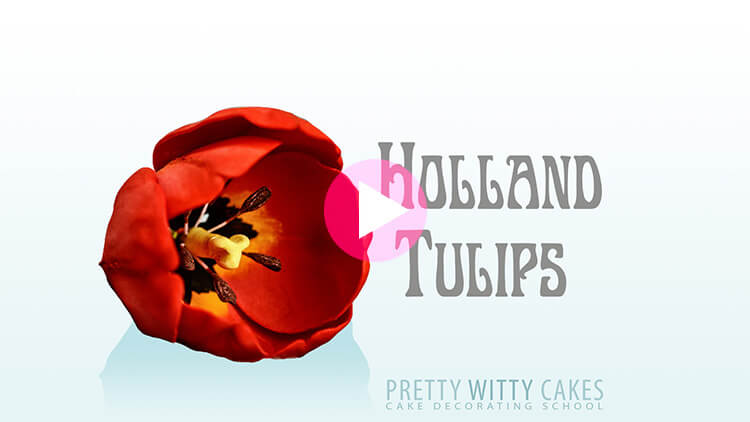 Holland Tulips Tutorial at Pretty Witty Academy