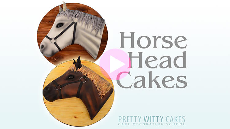 Horse Head Cakes Tutorial Preview at Pretty Witty Academy