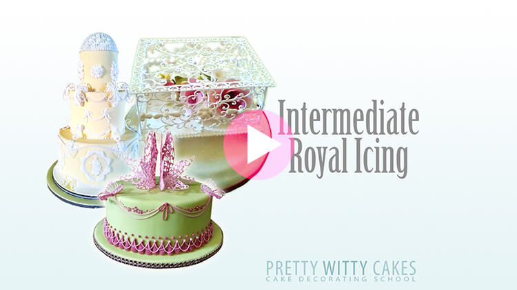 Intermediate Royal Icing Tutorial Preview at Pretty Witty Academy