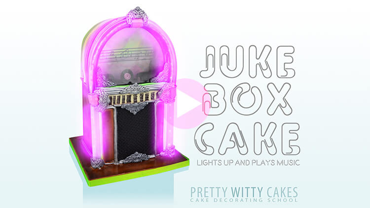 Juke Box Cake prevew tutorial at Pretty Witty Academy