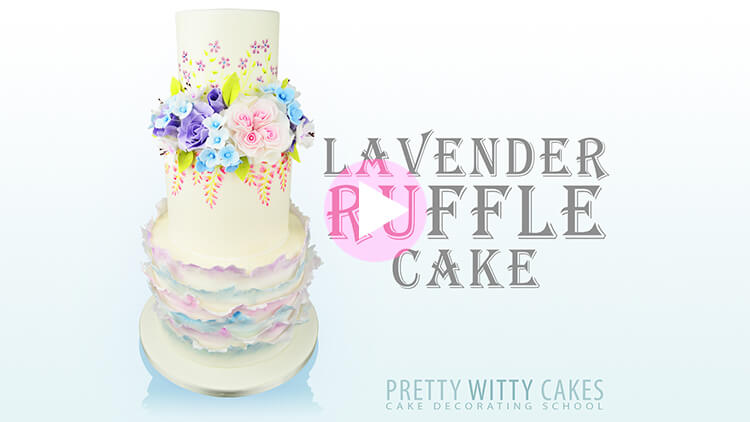 Lavender Ruffle Cake Tutorial Preview at Pretty Witty Academy