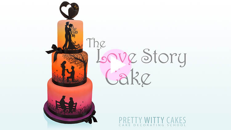 Love Story Cake Tutorial Preview at Pretty Witty Academy