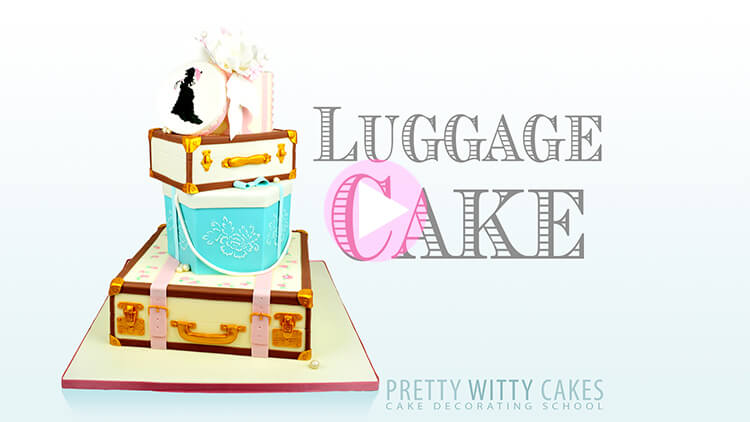 Luggage Cake Tutorial Preview at Pretty Witty Academy