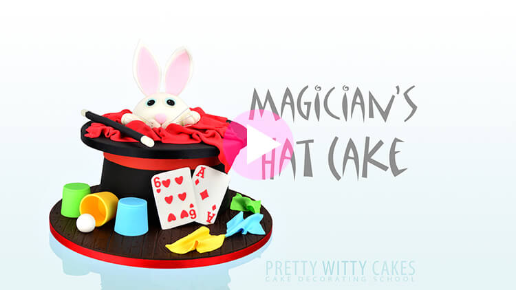 Magician's Hat Cake Tutorial Preview at Pretty Witty Academy