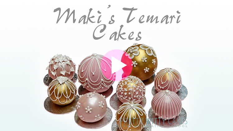Temari Cakes - tutorial preview at Pretty Witty Academy