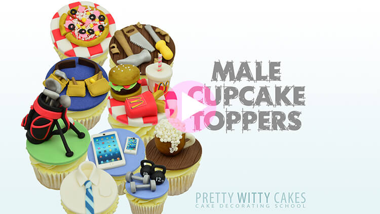 Male Cupcakes Tutorial Preview at Pretty Witty Academy