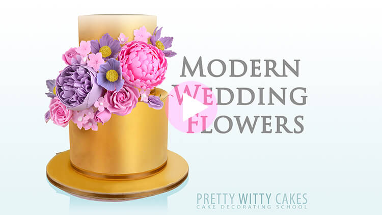 Modern Wedding Flowers Tutorial Preview at Pretty Witty Academy
