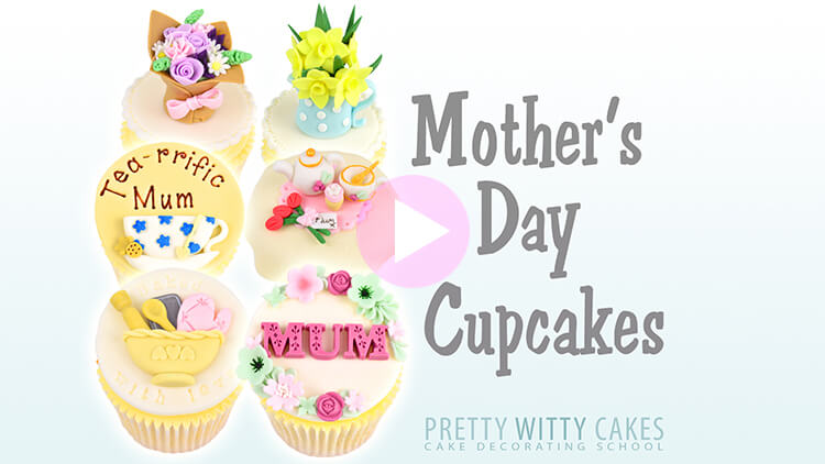 Mother's Day Cupcakes Tutorial Preview at Pretty Witty Academy
