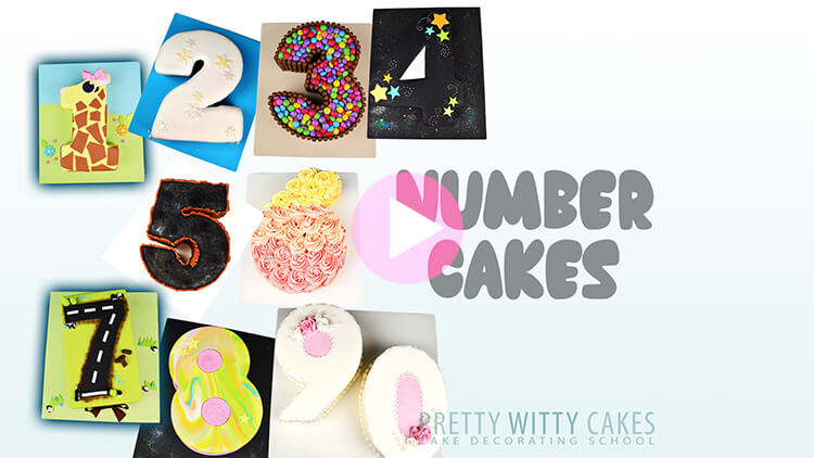 Number Cakes Tutorial Preview at Pretty Witty Academy