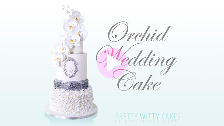 Orchid Wedding Cake Tutorial Preview at Pretty Witty Academy