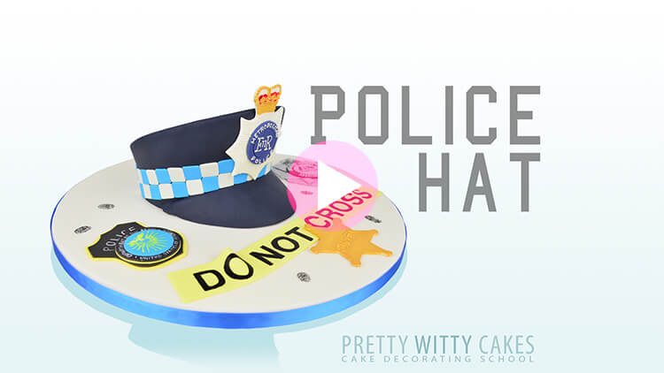 Police Hat Tutorial Preview at Pretty Witty Academy