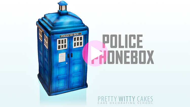Police Phonebox Tutorial Preview at Pretty Witty Academy