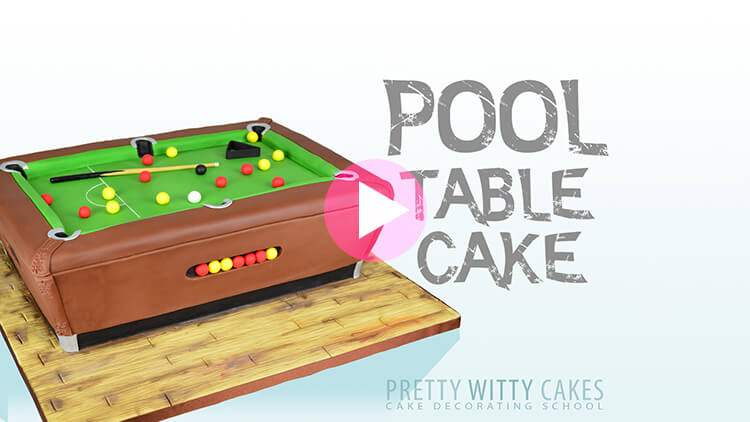 Pool Table Cake preview tutorial at Pretty Witty Academy