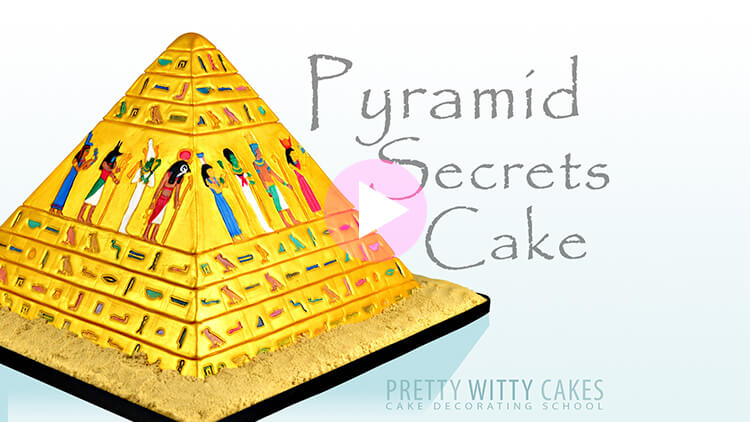 Pyramid Cake Tutorial Preview at Pretty Witty Academy
