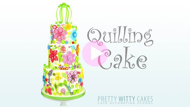 Quilling Cake Tutorial Preview at Pretty Witty Academy