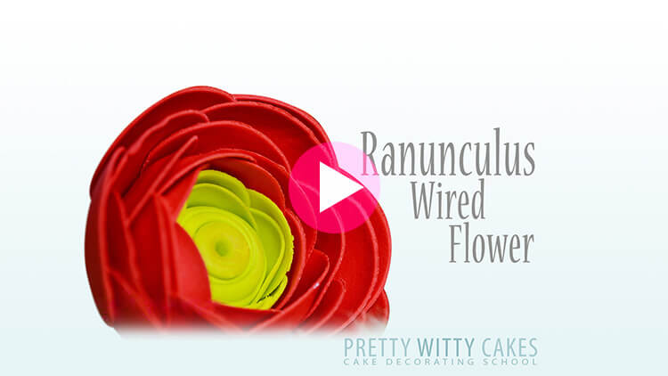 Ranunculus tutorial at Pretty Witty Academy