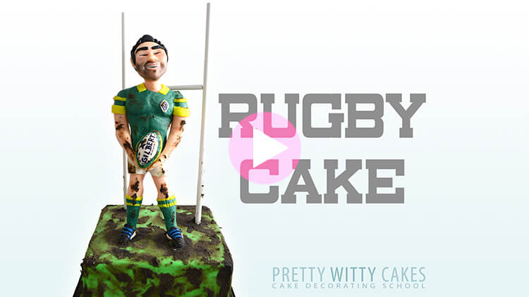 Rugby Cake Tutorial Preview at Pretty Witty Academy