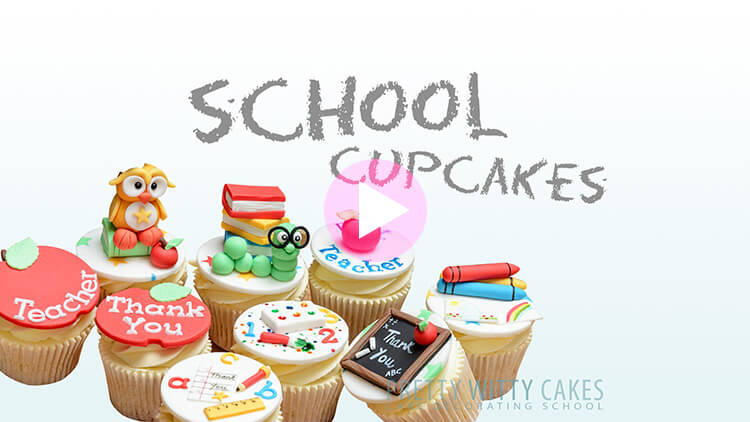 School Cupcakes Tutorial Preview at Pretty Witty Academy