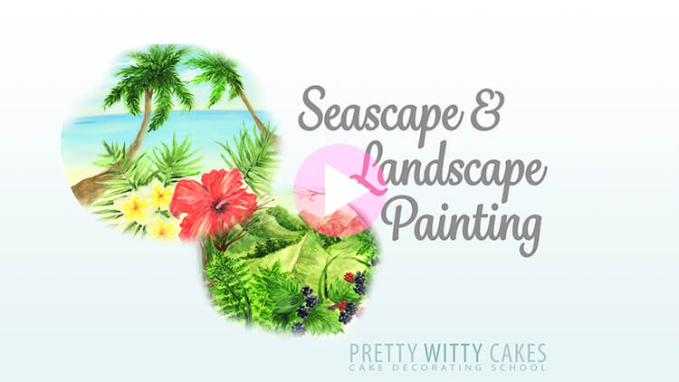Seascape & Landscape Painting Tutorial Preview at Pretty Witty Academy