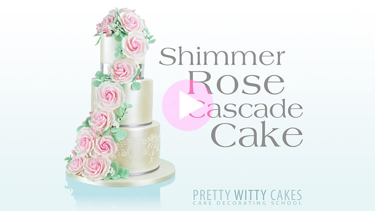 Tutorial on How to make a shimmer rose cascade cake