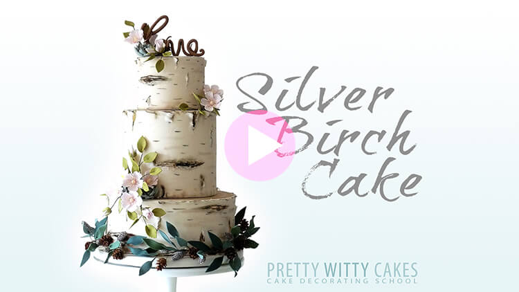 Silver Birch Cake Tutorial Preview at Pretty Witty Academy