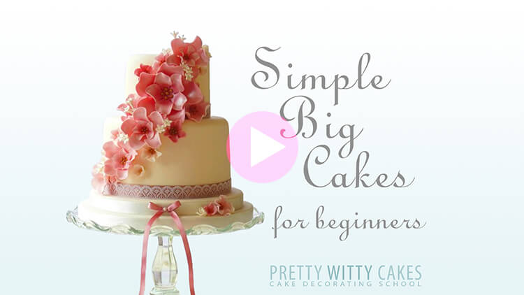 Simple Big Cakes Tutorial Preview at Pretty Witty Academy