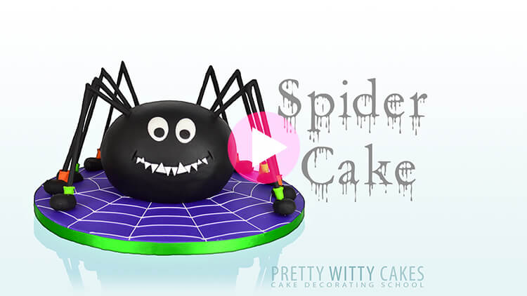 Spider Cake Tutorial Preview at Pretty Witty Academy