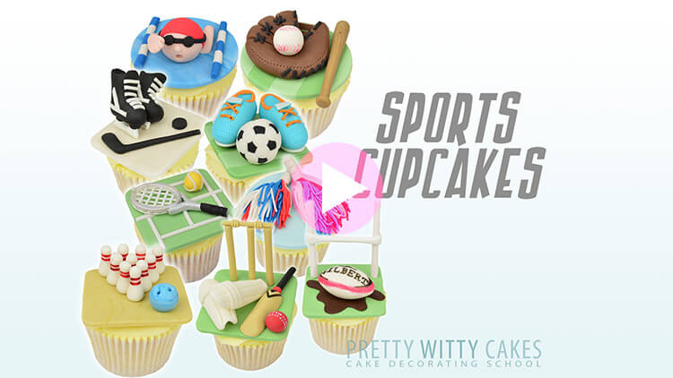 Sports Cupcakes Tutorial Preview at Pretty Witty Academy