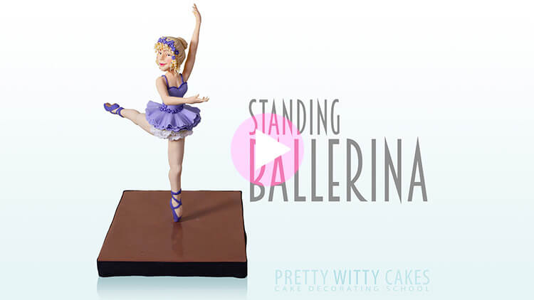 Standing Ballerina Tutorial Preview at Pretty Witty Academy