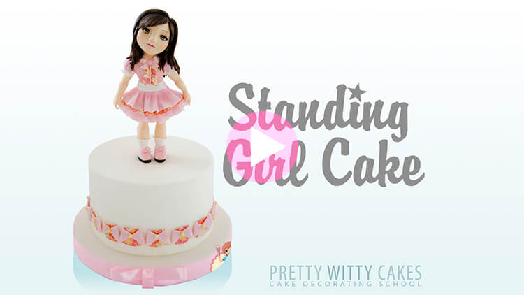 Standing Girl Cake Tutorial Preview at Pretty Witty Academy