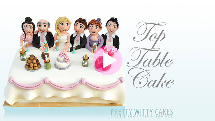 Top Table Cake Tutorial Preview at Pretty Witty Academy