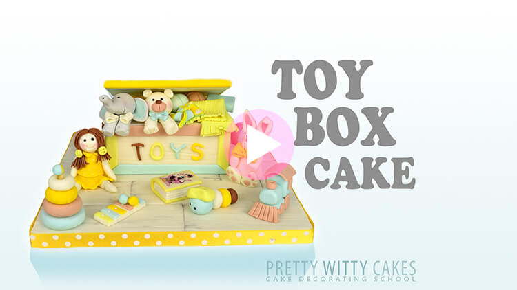 Toy Box Cake Tutorial Preview at Pretty Witty Academy