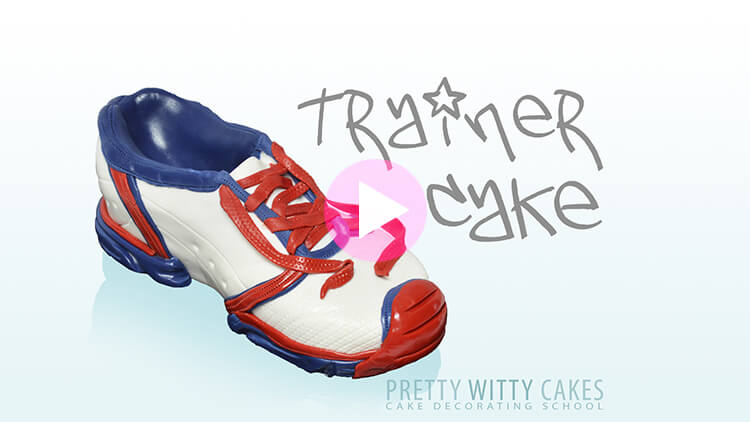 Trainer Cake Tutorial Preview at Pretty Witty Academy