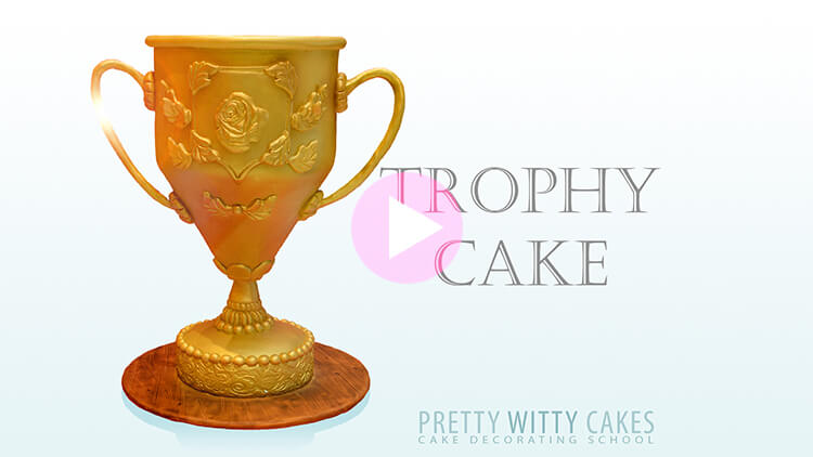 Trophy Cake Tutorial Preview at Pretty Witty Academy