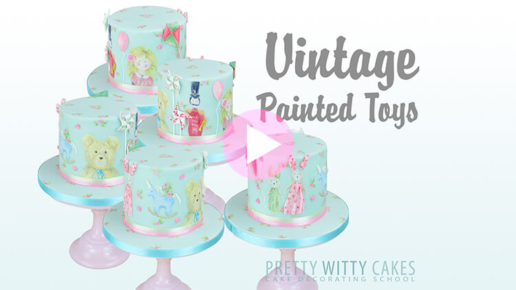 Vintage Painted Toys Tutorial Preview at Pretty Witty Academy