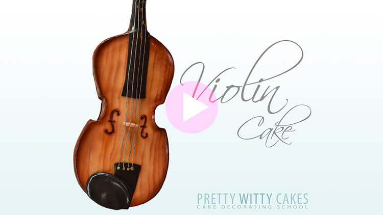 Violin Cake Tutorial Preview at Pretty Witty Academy