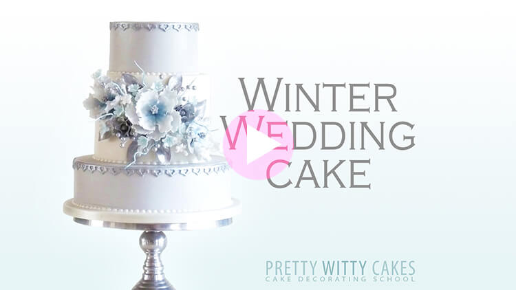 Winter Wedding Cake Tutorial Preview at Pretty Witty Academy