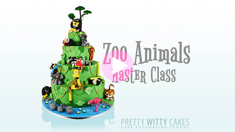 Zoo Animals Master Class tutorial at Pretty Witty Academy