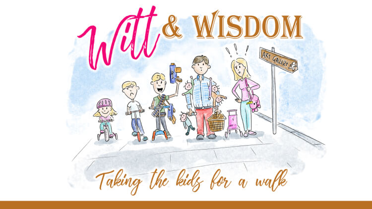 Witt and Wisdom - attempting to take kids for a walk