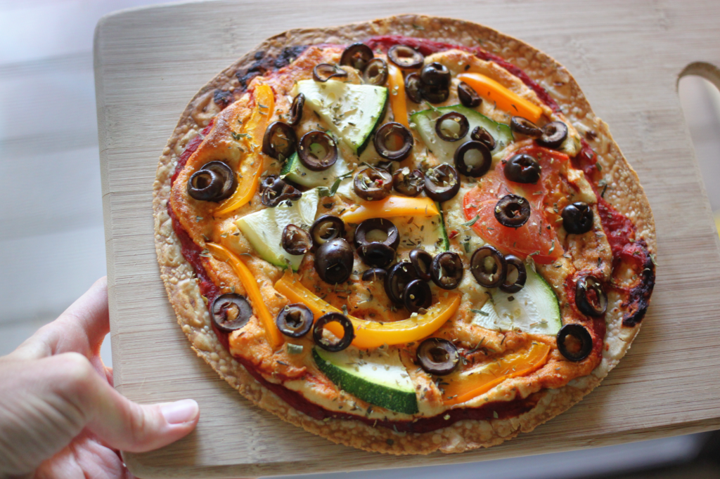 Easy Tortilla Pizza (Vegan and Gluten-Free)