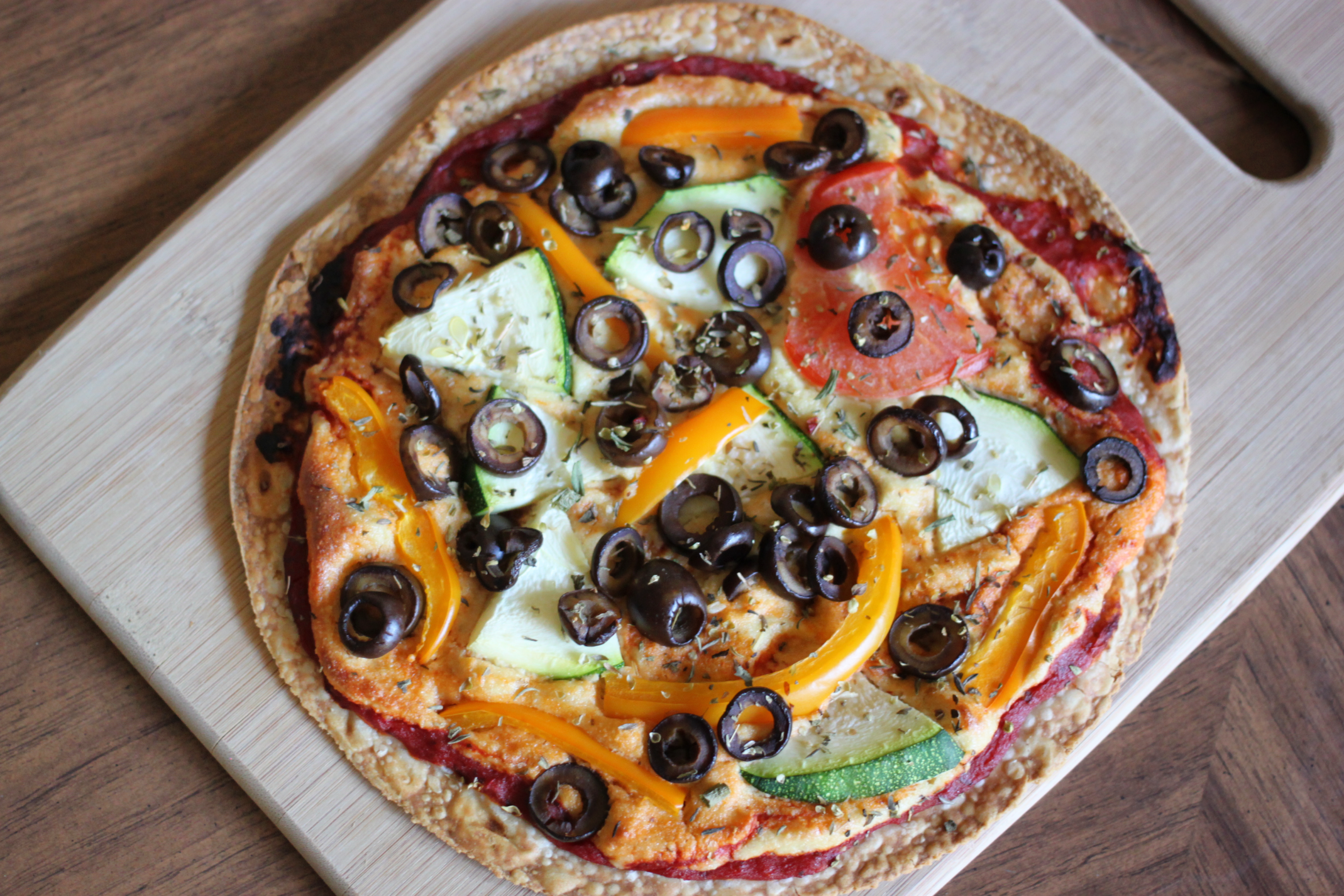 High Protein Tortilla Vegan Pizza Recipe — Dishmaps