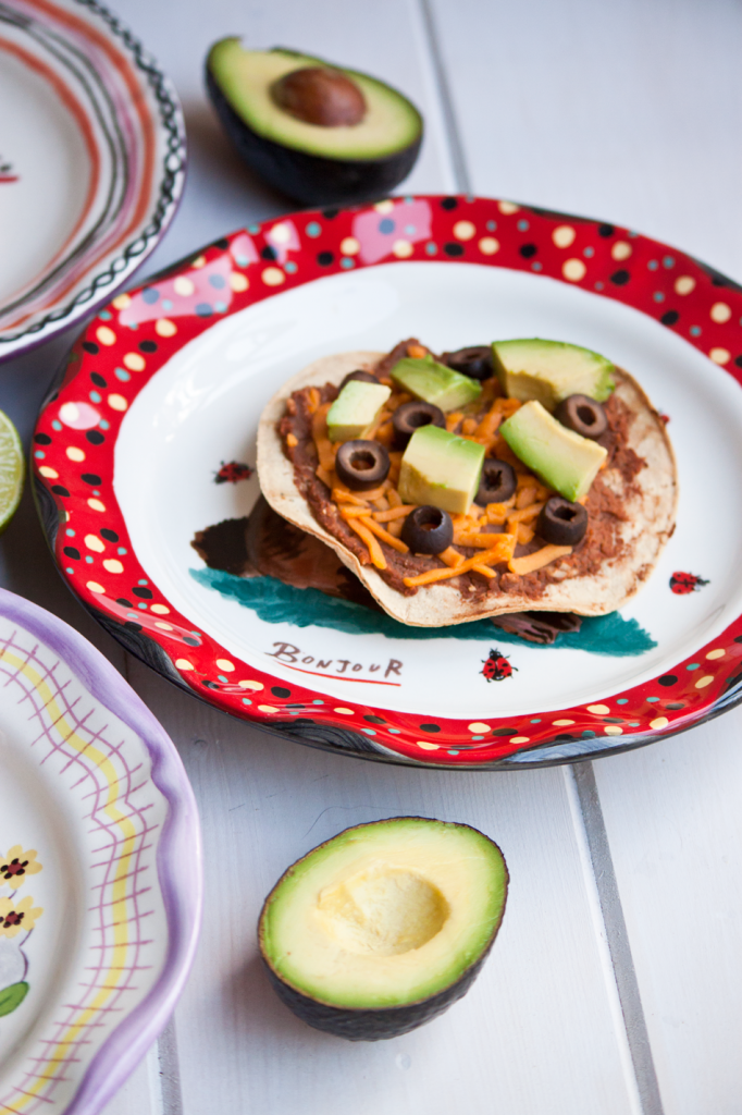 Easy Bean Tostadas by Vegan À La Mode (Vegan and Gluten-Free)