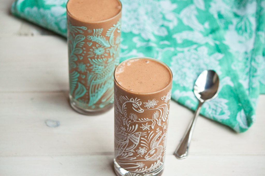 Chocolate Peanut Butter Smoothie by Vegan À La Mode (Vegan and Gluten-Free)