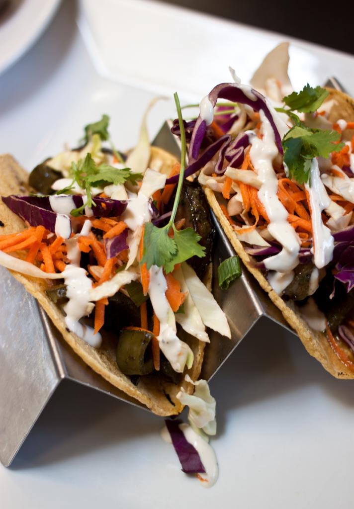 Vegan Gluten Free Restaurants in Portland | Portobello Poblano Tacos from Blossoming Lotus in Portland