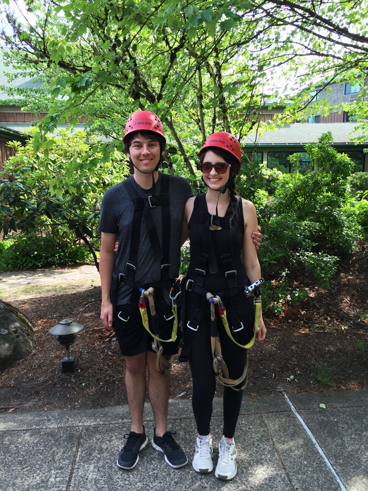Ziplining at the Skamania Lodge in Washington