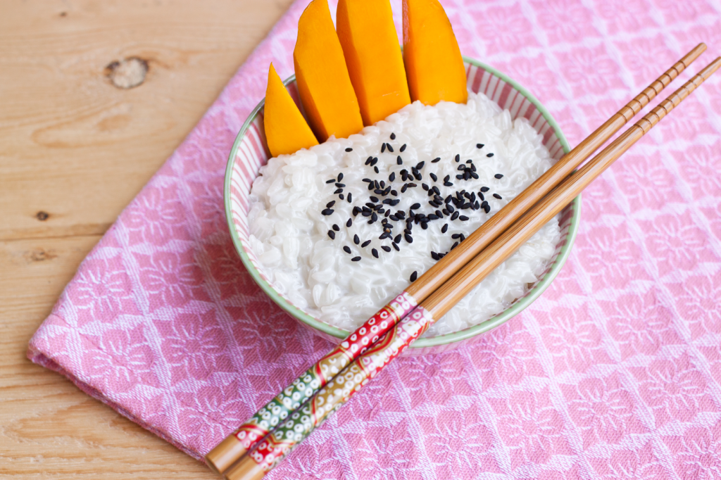 Vegan Gluten-Free Thai Mango with Sticky Rice