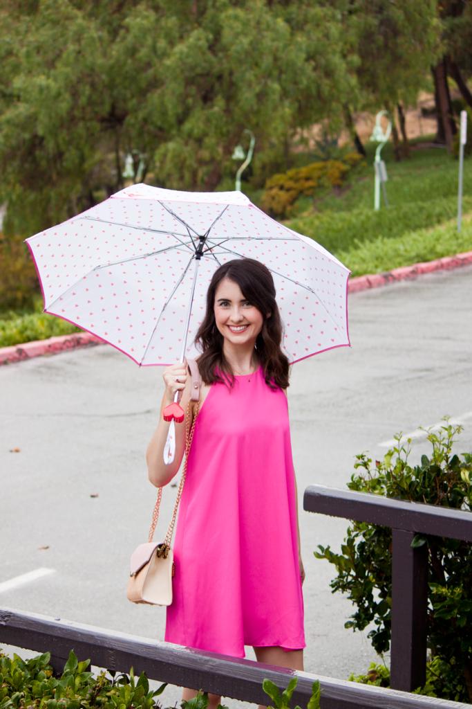 Bright pink swing dress