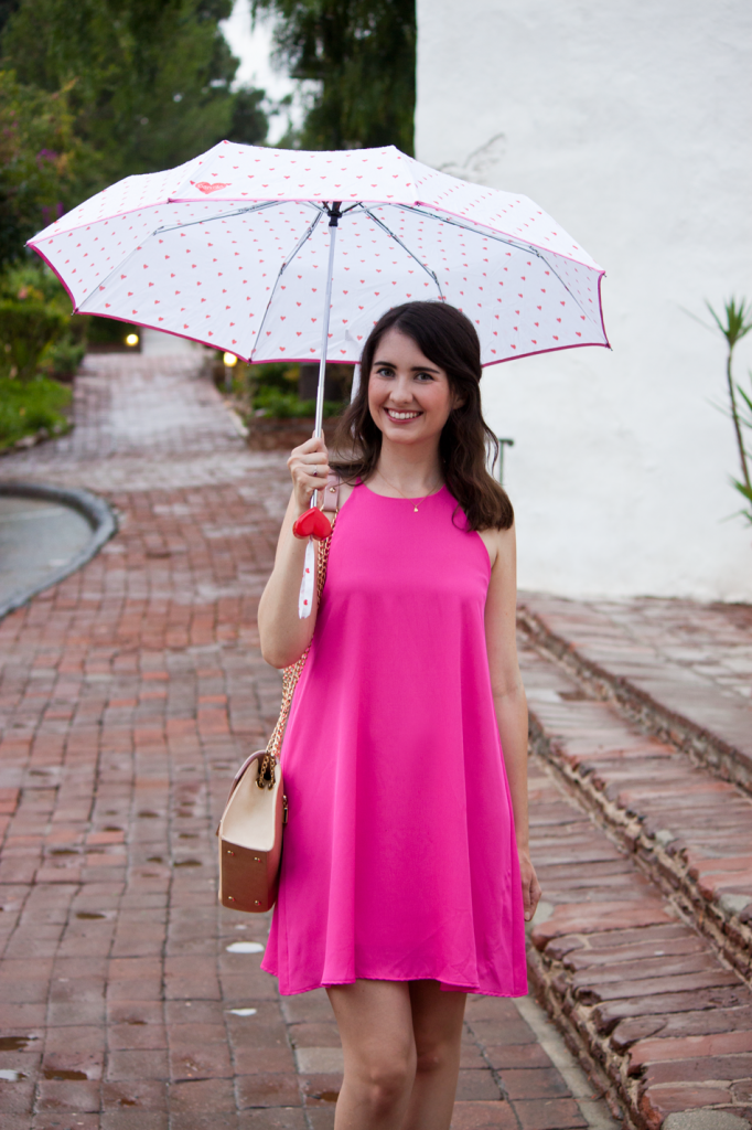 Bright pink dress for summer